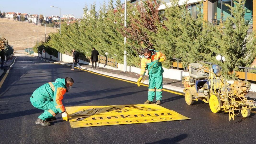 70 bin tonluk asfalt çalışması