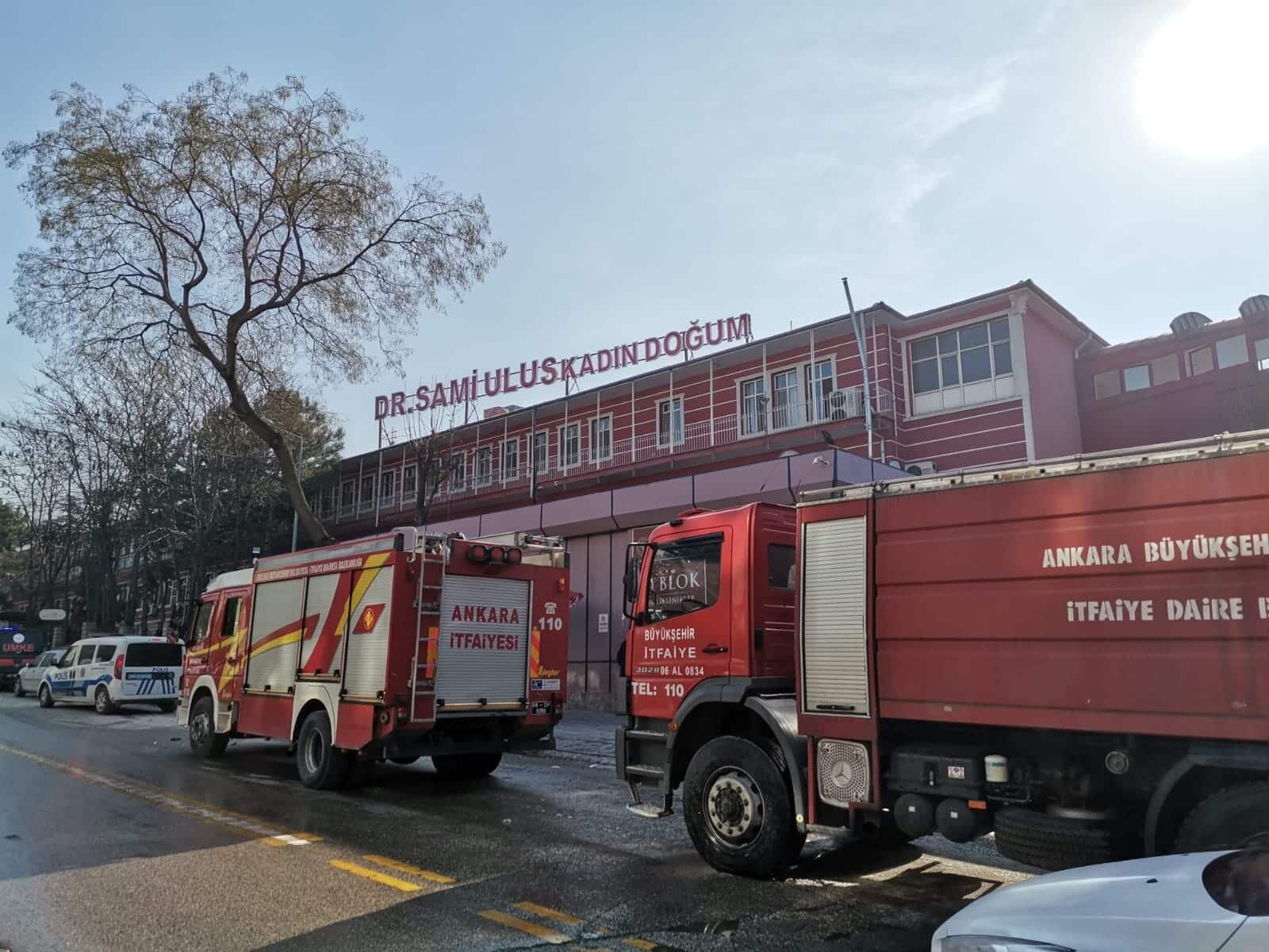 Ankara'da hastanede yangın paniği