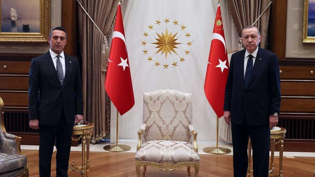Erdoğan fenerbahçe başkanı ali koç'u kabul etti