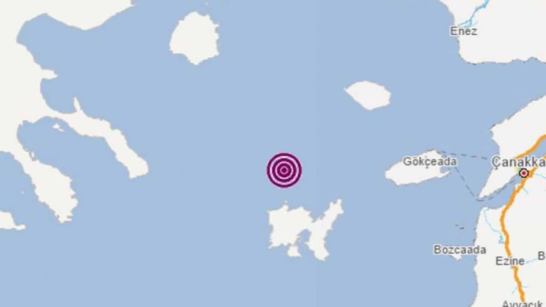 Ege denizi'nde 4. 1 büyüklüğünde deprem