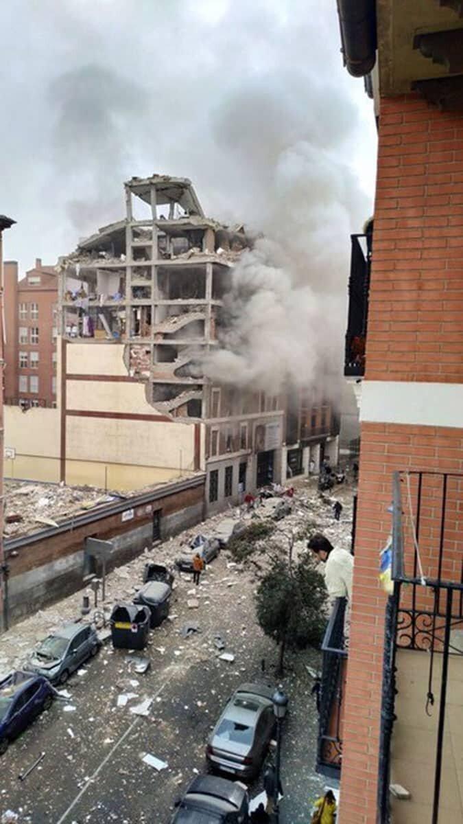 Madrid'de şiddetli patlama : 2 ölü
