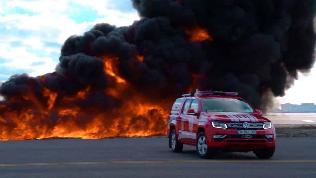 Yangın tatbikatı nefes kesti
