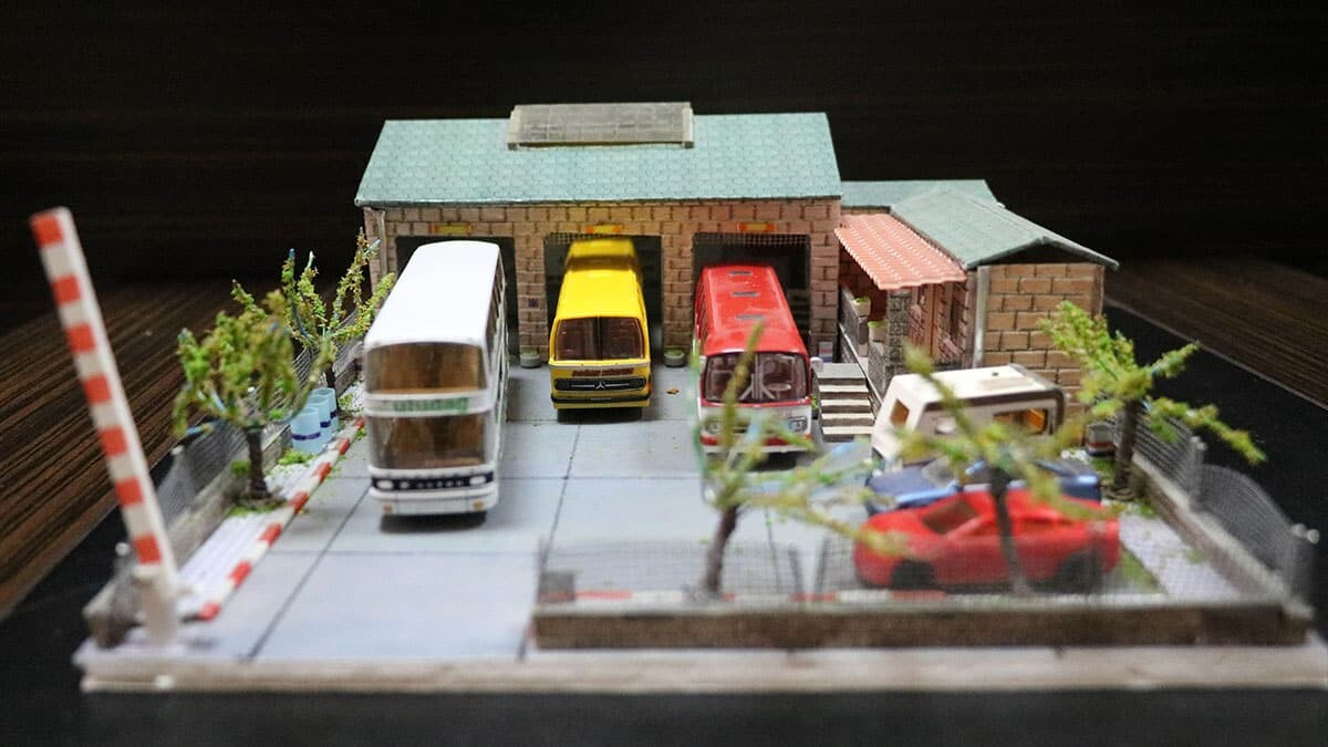Maket otobüs koleksiyonunu, müzeye dönüştürmeyi hedefliyor
