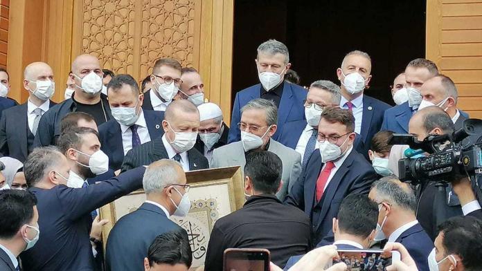 Erdoğan, ahmet erdoğan camii'nin açılışını yaptı