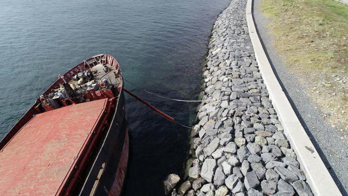 Kargo gemisinden denize sızıntı
