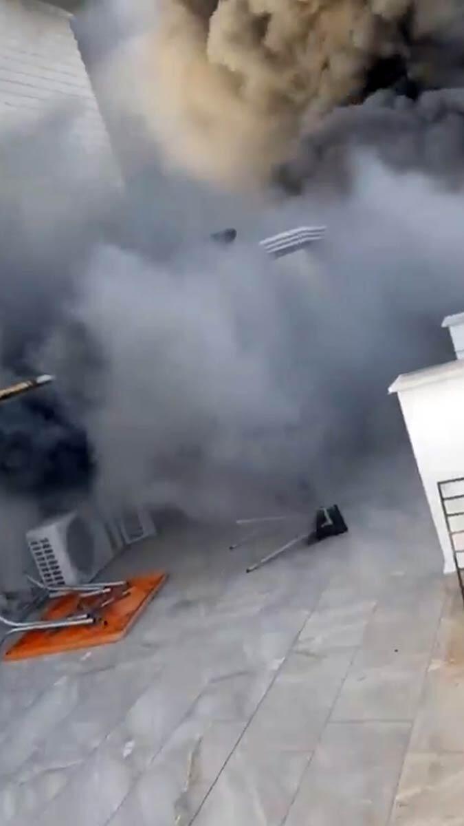 Antalya'da yangında korku dolu anlar yaşandı
