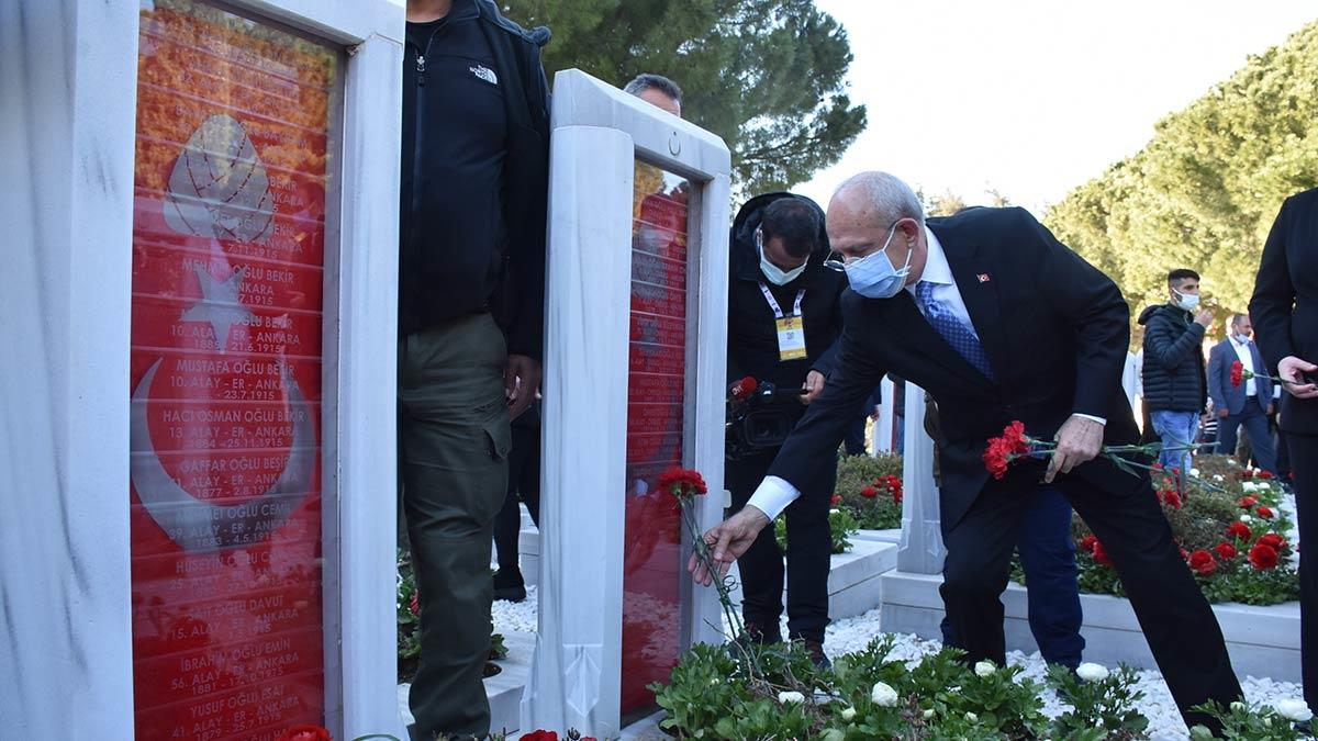 Kılıçdaroğlu şehitler abidesi'ni ziyaret etti