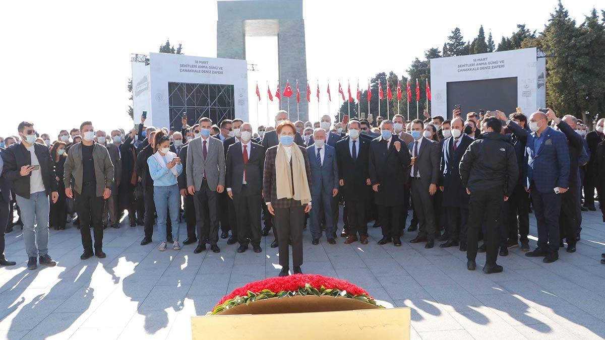 Çanakkale programı kapsamında i̇yi̇ parti genel başkanı meral akşener şehitler abidesi'ni ziyaret etti.