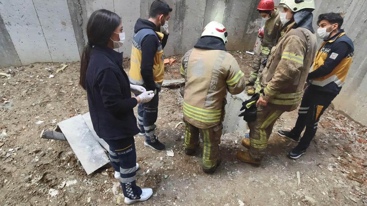 İlk iş gününde inşaattaki çukura düşen işçi öldü