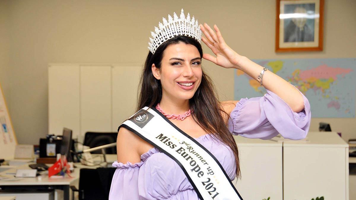 Duygu çakmak miss europe 2021 üçüncüsü oldu