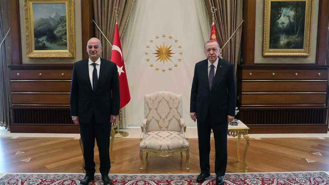 Erdoğan, nikos dendias'ı kabul etti