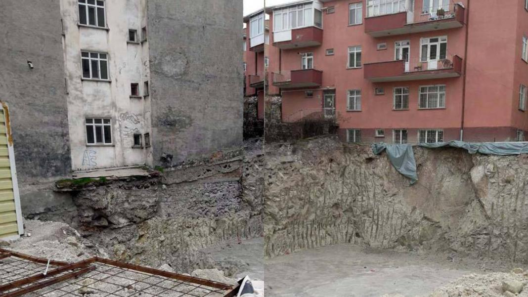 Ankara'da toprak kayması; 1 apartman tahliye edildi