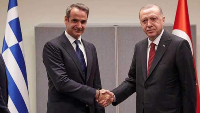 Miçotakis ile erdoğan arasında görüşme
