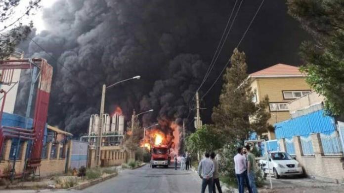 İran'da kimya fabrikasında yangın