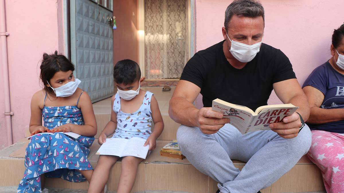Ilkokul mudurunden mahallesinde kitap okuma etkinligi 2 - yaşam - haberton