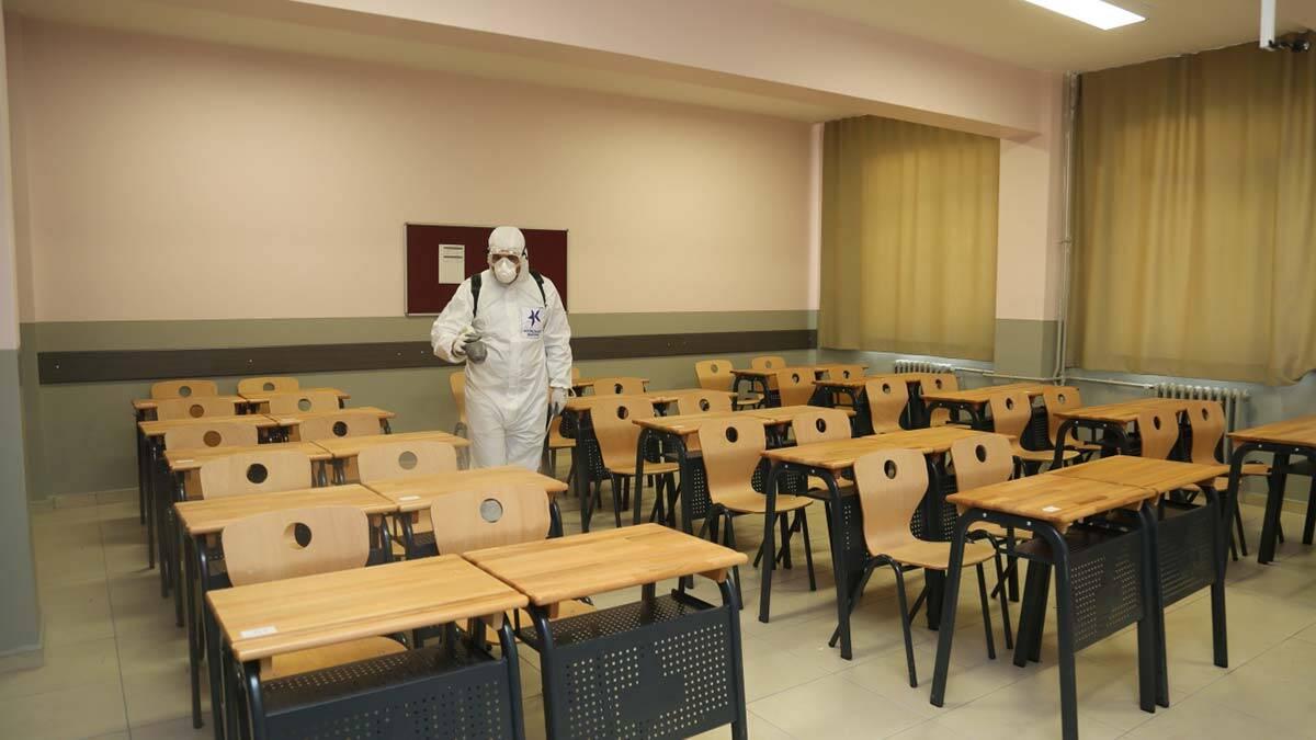6 eylul oncesi okullarda dezenfeksiyon basladi 2 - yerel haberler - haberton