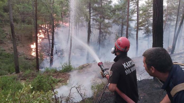 Belediye ekiplerinin orman yangınları ile mücadelesi