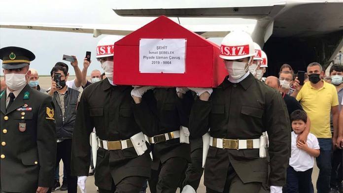 Şehit uzman çavuş şebelek'in cenazesi trabzon'da