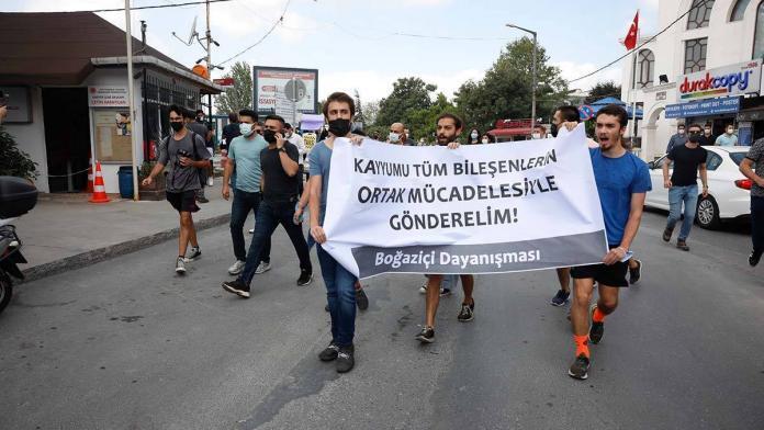 Rektör naci i̇nci protesto edildi