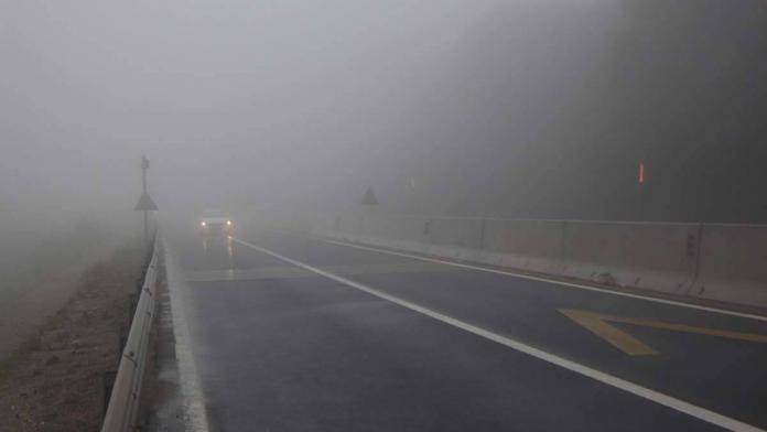 Bolu dağı'nda yağmur ve sis etkili