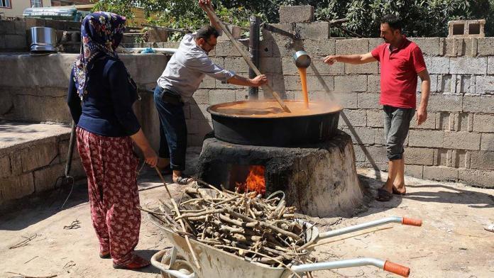 Gaziantep'te üzümlerin pekmez ve pestil yolculuğu