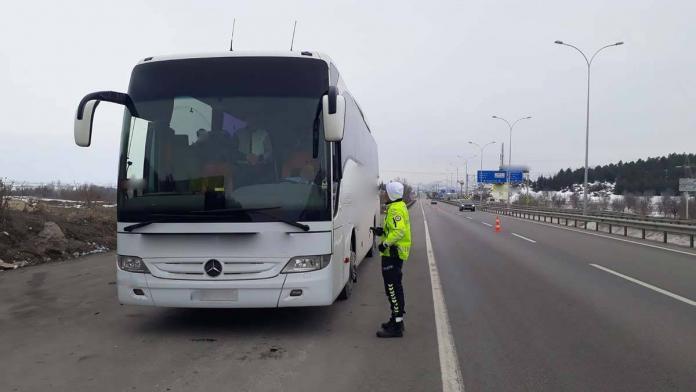 Şehirler arası yolcu otobüslerine özel denetim